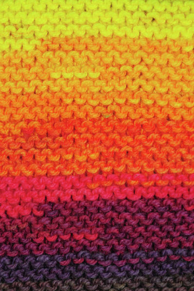 Photograph - Rainbow Colors And Knitting Passion. Tropical Sunset by Jenny Rainbow