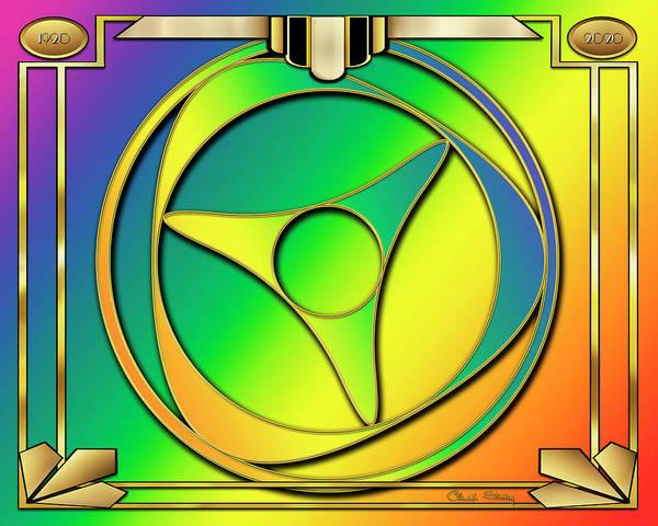 Digital Art - Rainbow Design 15 by Chuck Staley