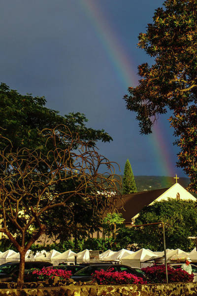 Photograph - Rainbow Ended At The Church by John Bauer