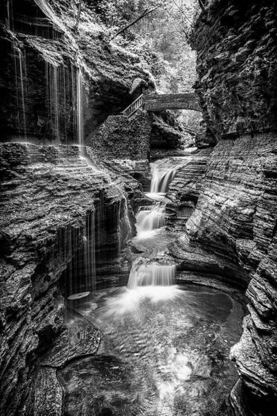 Upstate New York Wall Art - Photograph - Rainbow Falls Gorge - Watkins Glen by Stephen Stookey