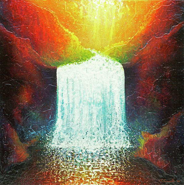 Painting - Rainbow Falls by Jaison Cianelli