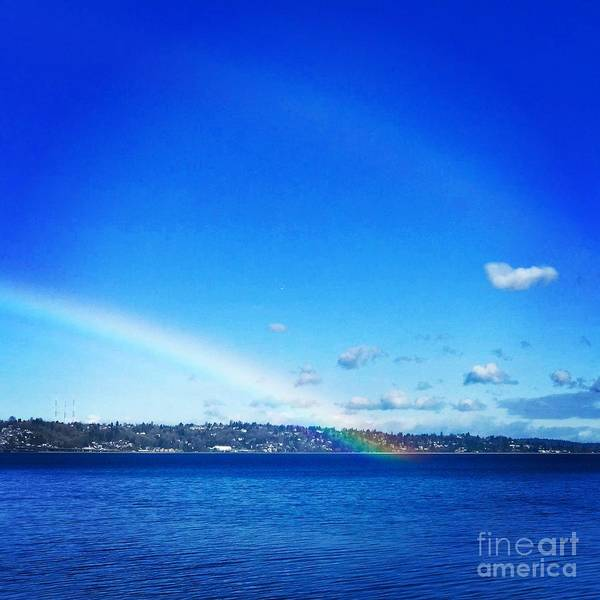 Photograph - Rainbow In Blue by Suzanne Lorenz