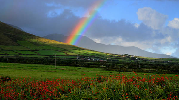 In The Grass Photograph - Rainbow In Kerry by Through The Eye Of A Lens Photography Has Always Been My Pas