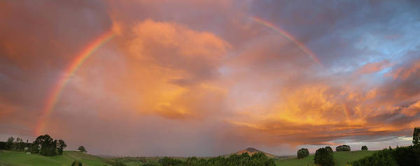 Wall Art - Photograph - Rainbow In Nz Sky by Les Cunliffe