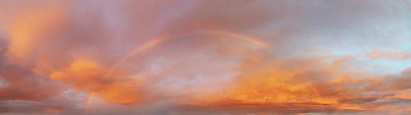 Wall Art - Photograph - Rainbow In Sky by Les Cunliffe