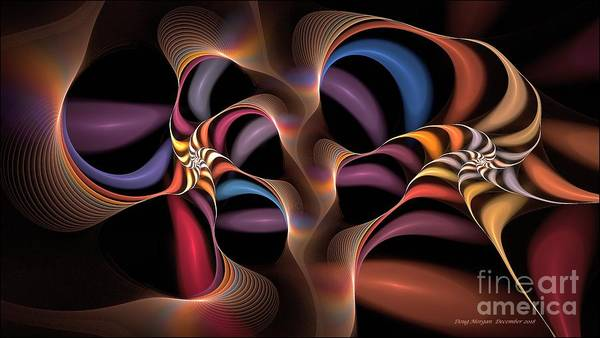 Digital Art - Rainbow Lillies-1 by Doug Morgan