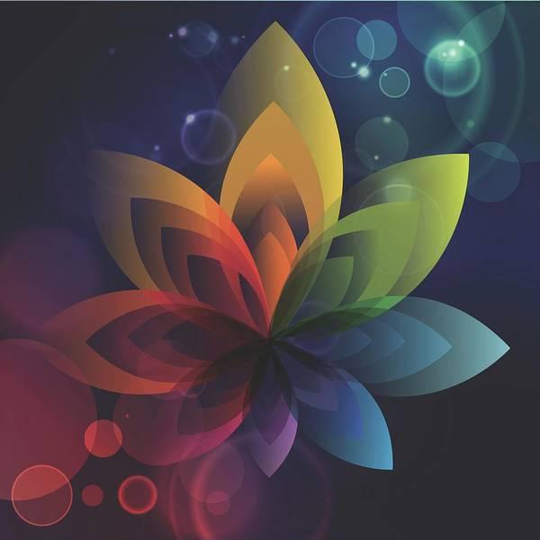 Wall Art - Digital Art - Rainbow Lotus by Isabella Zietsman