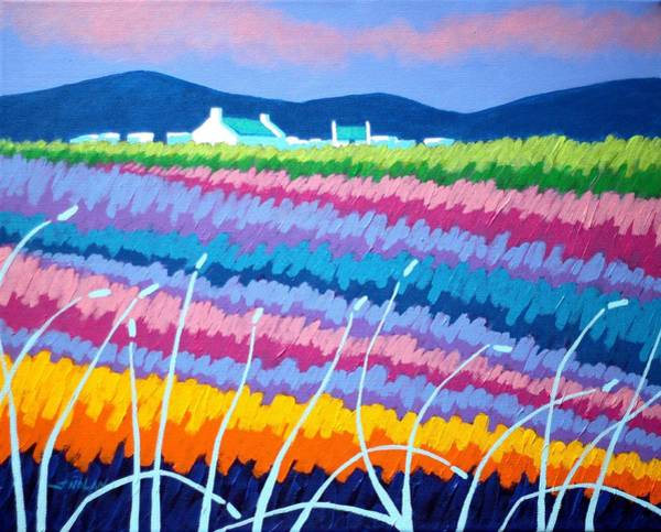 Wall Art - Painting - Rainbow Meadow II by John  Nolan