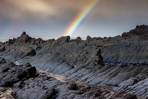 Photograph - Rainbow On The Rocks by Framing Places