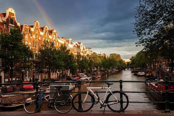 Wall Art - Photograph - Rainbow Over Amsterdam by Andrew Soundarajan