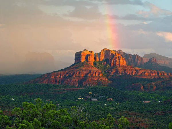 Object Photograph - Rainbow Over Arizona Scenery by Dougberry