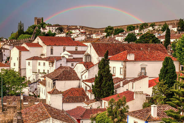 Photograph - Rainbow Over Castle by David Letts