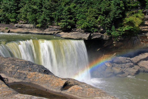 Photograph - Rainbow Over Cumberland Falls by Angela Murdock