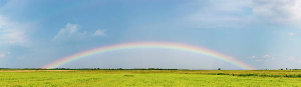 Wall Art - Photograph - Rainbow Over Landscape, Marion County by Panoramic Images