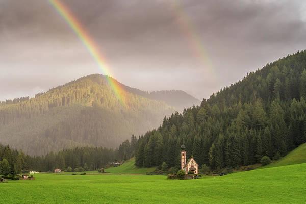 Photograph - Rainbow Over St  Johann by James Billings