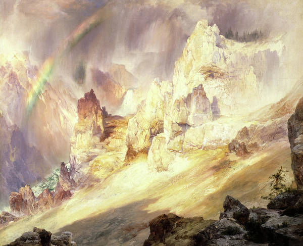 Painting - Rainbow Over The Grand Canyon Of The Yellowstone, 1900 by Thomas Moran