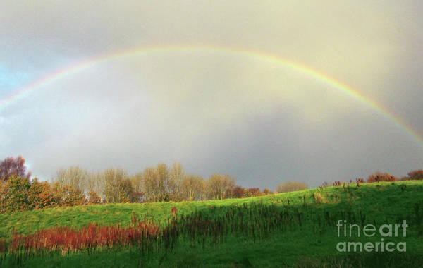 Wall Art - Photograph - Rainbow Over The Hill by Kim Tran