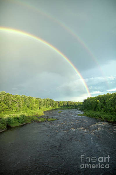 Photograph - Rainbow Over The Littlefork River by Lori Dobbs