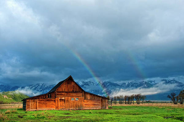 Wall Art - Photograph - Rainbow Over The Mormon Barns In Grand by Bill Wight