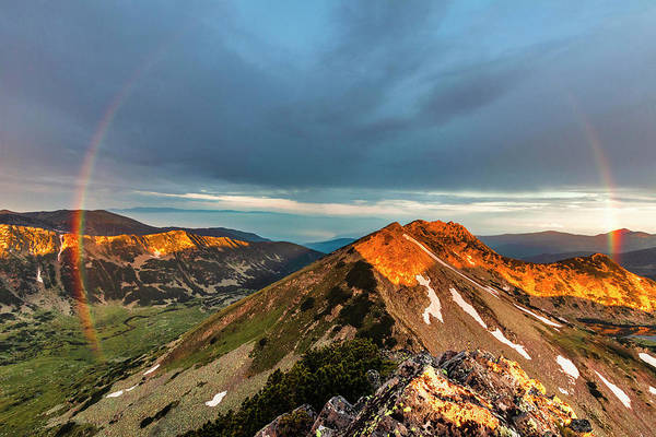 Photograph - Rainbow Over The Mountain by Evgeni Dinev