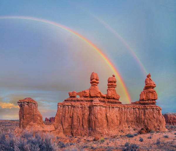 Wall Art - Photograph - Rainbow Over The Three Judges, Goblin by Tim Fitzharris