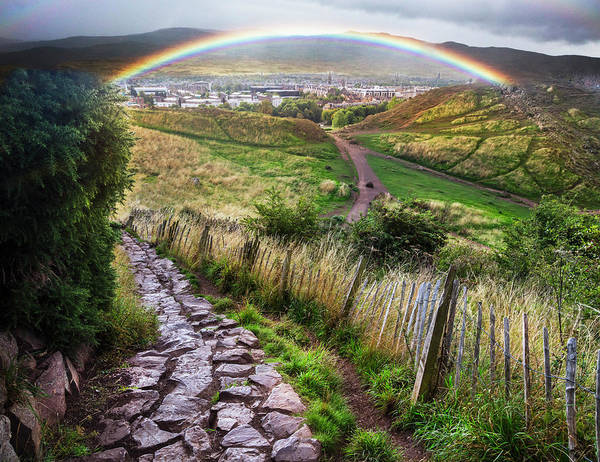 Photograph - Rainbow Over The Trail by Debra and Dave Vanderlaan