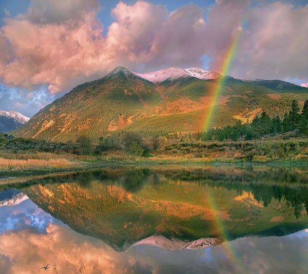Photograph - Rainbow Over Upper Twin Lake by