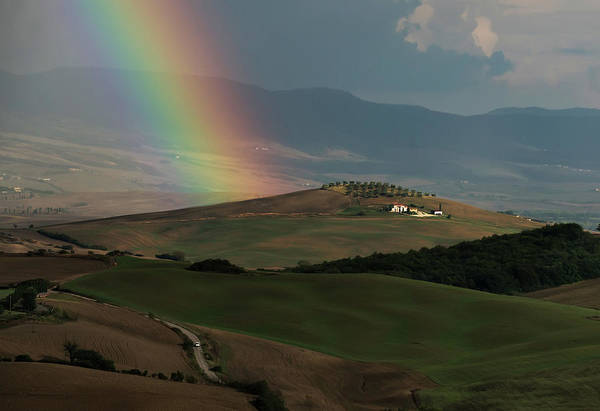 Wall Art - Photograph - Rainbow Over Val D'orcia by Jaroslaw Blaminsky