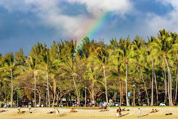 Photograph - Rainbow Over Waikiki by Anthony Jones