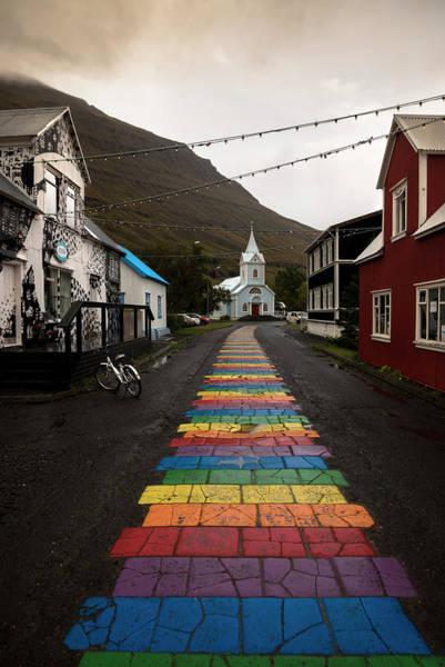 Wall Art - Photograph - Rainbow Path Towards The Blue Church by RicardMN Photography