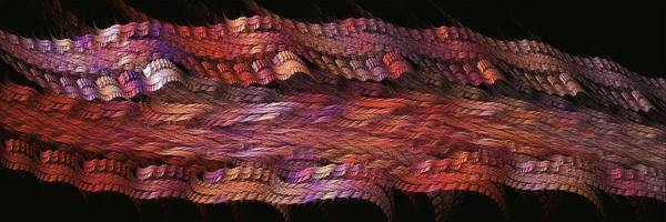 Digital Art - Rainbow Ribbons-2 by Doug Morgan