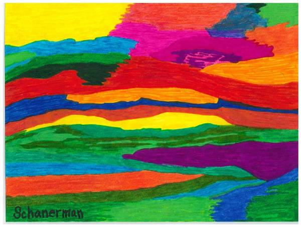 Drawing - Rainbow River by Susan Schanerman