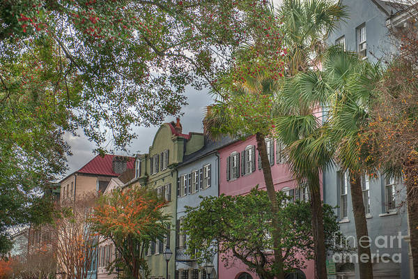 Photograph - Rainbow Row Colorful Homes - Charleston South Carolina by Dale Powell
