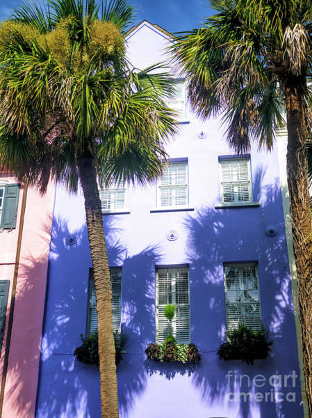 Wall Art - Photograph - Rainbow Row Purple In Charleston by John Rizzuto