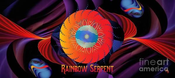 Digital Art - Rainbow Serpent-3 by Doug Morgan