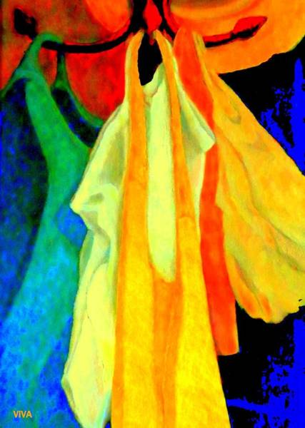 Digital Art - Rainbow Shopping Spree - O T T.  Ditch Plastic by VIVA Anderson