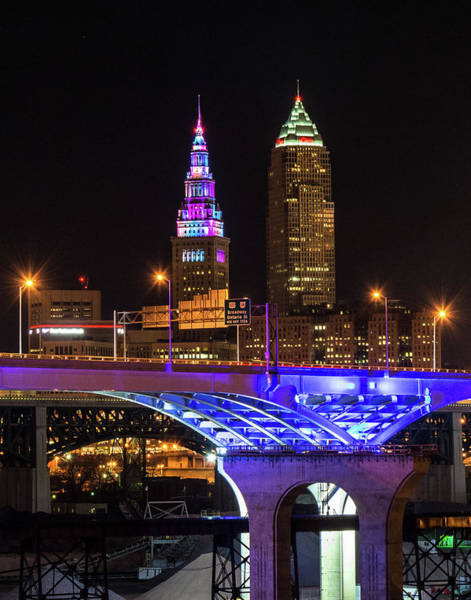Photograph - Rainbow Tower In Cleveland by Richard Kopchock