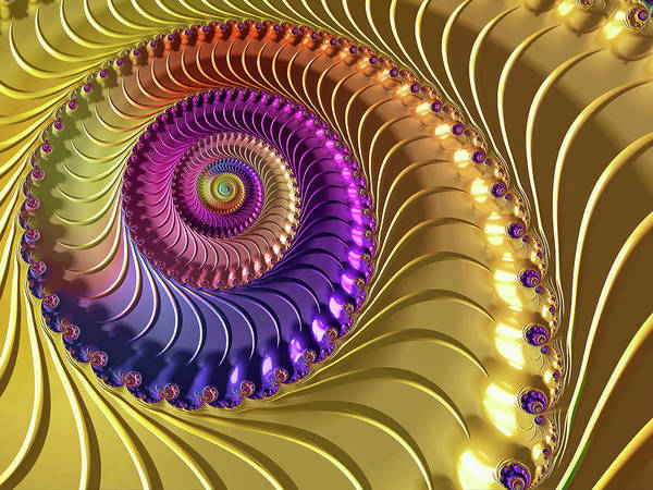 Digital Art - Rainbow Twist by Susan Maxwell Schmidt