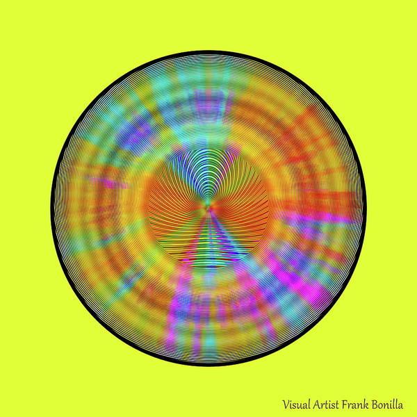 Digital Art - Rainbwow Sun by Visual Artist Frank Bonilla