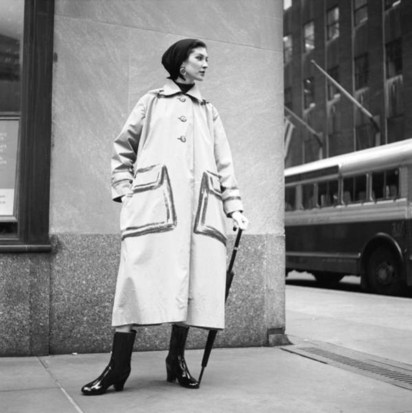 Photograph - Raincoat Model by Gordon Parks