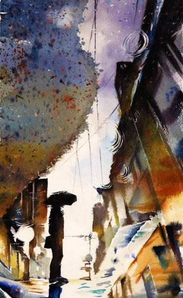 Raindrops Wall Art - Painting - Raindrop by ArtMarketJapan