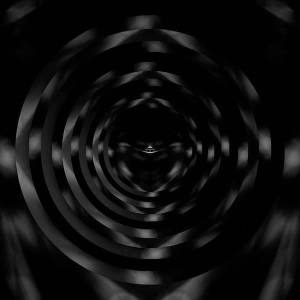 Wall Art - Photograph - Raindrop Black And White Reflection Circles by Pelo Blanco Photo