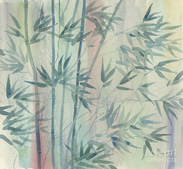 Bamboo Painting - Rainforest Bamboo by Paul Brent