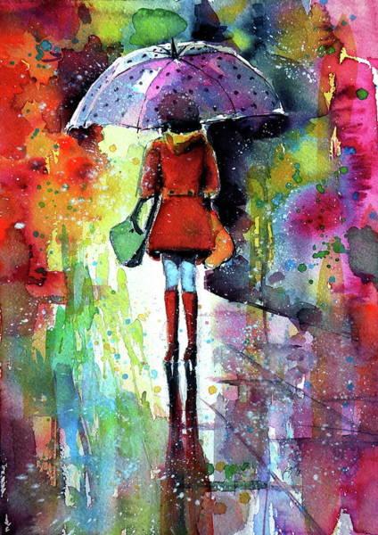 Wall Art - Painting - Raining Again by Kovacs Anna Brigitta