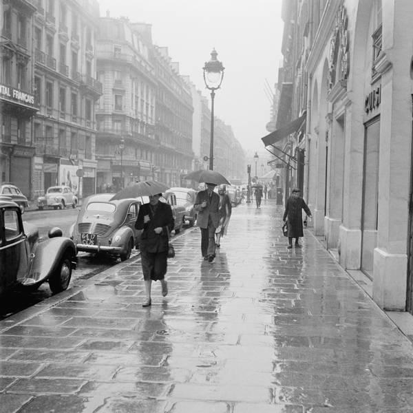 Rain Photograph - Raining Day At Paris In 1955 by Keystone-france