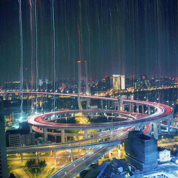 Rain Photograph - Raining In City by Min Wei Photography