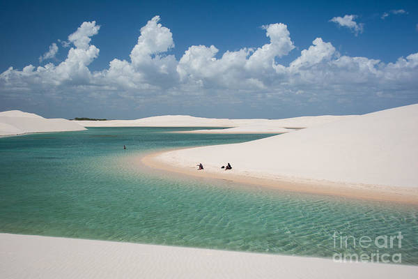 Isolated Wall Art - Photograph - Rainwater Lagoon And Sand Dunes In by Vitormarigo