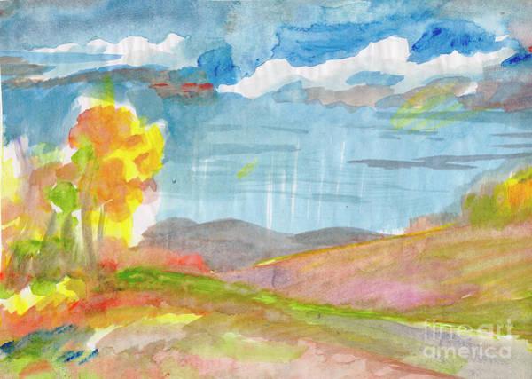 Painting - Rainy Autumn by Irina Dobrotsvet