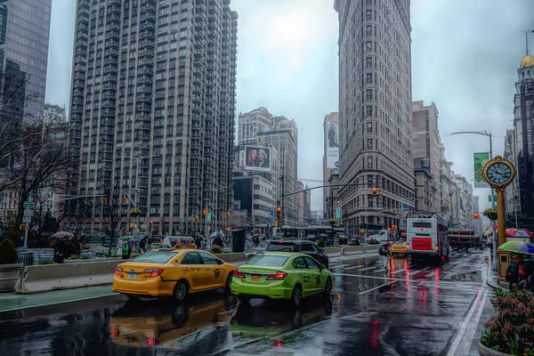 Photograph - Rainy Day At The Flatiron District by Alison Frank