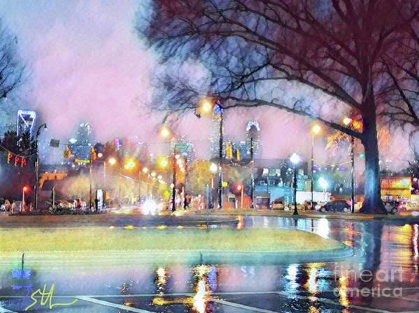 Digital Art - Rainy Day In Charlotte by Stefan Duncan